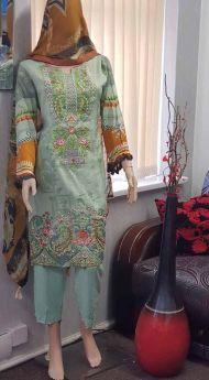 Linen suit Chiffon Dupatta 18-S