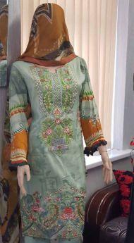 Linen suit Chiffon Dupatta 18