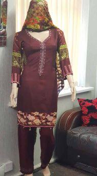 Linen suit Chiffon Dupatta 19-S
