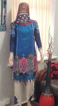 Linen suit Chiffon Dupatta 20