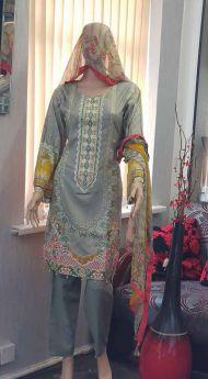 Linen suit Chiffon Dupatta 21-S